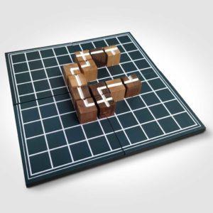 Tablero del juego abstracto Sendas